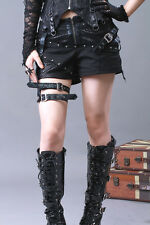 RQBL Tomb Raider Shorts Lace Net Punk Goth Rock Lolita