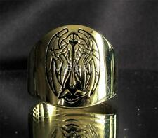 BRONZE RING COAT OF ARMS KLINGON CARDASIAN ALLIANCE SEAL HIGH POLISHED