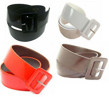 """PATENT LEATHER 2"""" WIDE CINCH BELT FOR LADIES, 4 COLORS & 7 SIZES ON SALE"""
