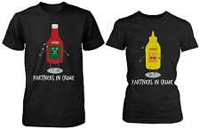 Cute Couple Shirts - Ketchup and Mustard Partners In Crime - Matching Shirts