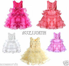 Baby Girls Party,Wedding,Bridesmaid,Christening Dress Age (2-12 Years)