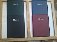 QTY 1 A4 LEATHER LOOK MENU COVER  NEW PRODUCT