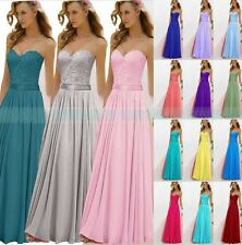 Gorgeous Bridesmaid Dress Formal Evening Long Gown Party Prom Ball UK Size 6-16