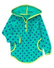 GYMBOREE COLOR HAPPY TURQOUISE POLKA DOTS HOODED L/S TOP 4 5 6 7 8 12 NWT