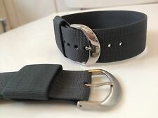 22mm Admiral Grey US Military / Bond Style Strap / Band With Fabric Keeper