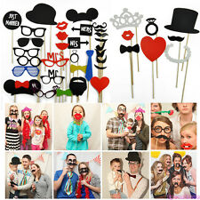Colorful Photo Booth Props Moustache Lips Hat On A Stick Party Birthday Wedding
