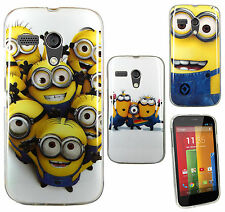 Despicable Me 2 Minion TPU Gel Skin Back Case Cover For Motorola Moto G