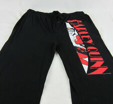 Mens Womens NEW Harley Quinn Black Pajama Lounge Pants Size M L XL 2XL