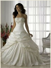 New Stock White/ivory Wedding dress Bridal Gown 6-8-10-12-14-16-18-costom made