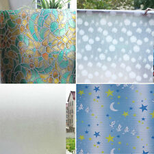 Glass Sticker Window Film Privacy Decorative Static Cover Adhesive Home Office