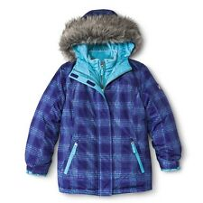 R-Way by ZeroXposur Girls' Plaid 3-in-1 Systems Jacket with Faux Fur Hood