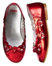 GYMBOREE VALENTINES DAY RED HEART BALLET FLAT SHOES 10 1 4 NWT-OT