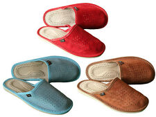 Lady's Women Suede Leather Slippers  Size 3 4 5 6 7 8 Luxury Gift Present