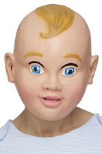 Brand New Full Face Latex Smiling Baby Mask Costume Accessory