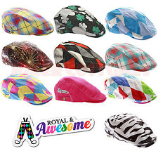 Royal And Awesome Golf Hat Funky Loud Flat Caps All Colours and Styles One Size