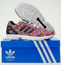 Adidas Originals ZX Flux Multi Color Prism Pixels M19845 8000 Multicolor Torsion