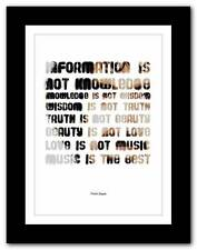 ❤ FRANK ZAPPA ❤ song lyrics/quote typography poster art print - A1 A2 A3 A4 #5