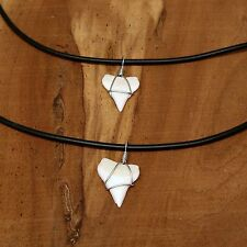 """White Tip Sharks Tooth Kids Necklace Lengths 14"""" or 16 Lengths 5/8"""" Sharks Teeth"""