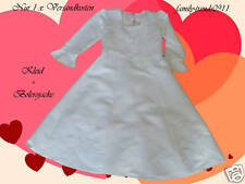 Kids Dress Flower Girl Wedding Communion + Bolero Jacket Coat Size UK 24m-11