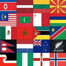 L-O COUNTRY FLAGS ALPHABETICAL - ALL SIZES - WORLD NATIONAL COUNTRIES LARGE