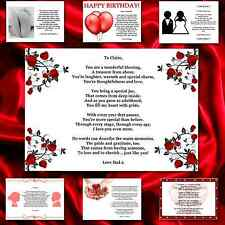 ♥ Personalised CHRISTMAS DAY Poem Gift ♥ Beautiful present for your MUM & DAD