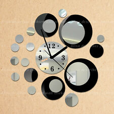Fashion 3D Home decoration Wall Stickers DIY Mirror Wall Clock Double-color