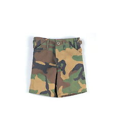 Kids Woodland Forest Army Camo Airsoft Military BDU Adjustable Shorts