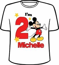 Many Tee Colors- Personalized Disney Mickey Mouse Big Number Birthday T-Shirt