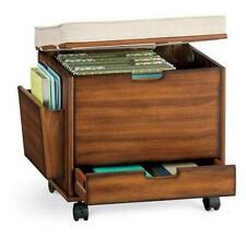 Craft Home Office ROLLING STORAGE CART FILE CABINET OTTOMAN Furniture 4 COLORS