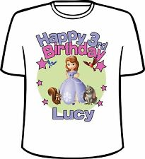 Personalized Sofia The First Birthday T-Shirt