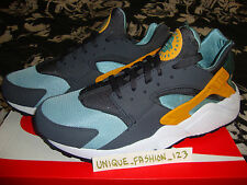 NIKE AIR HUARACHE LE CATALINA GOLD 13 12 11 10 9 8 7 6 5 QS TRIPLE BLACK WHITE
