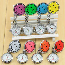 Cute Smiley Face Nurses Watch Stainless Steel Fun Fob Quartz Analog Watches