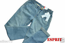 NEW ESPRIT CHINO JEANS DAMEN COMFORTABLE LEG MEDIUM RISE CHINO HOSE STRETCH