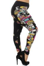 RARE POW STREET GIRL COMIC MARILYN MONROE leggings Cotton S M L PLUS 1X 2X 3X
