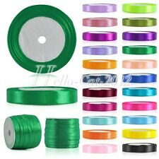 "Satin Ribbon 25 50 Yards Roll 1/8"" 1/4"" 3/8"" 5/8"" 3/4"" 1"" 11/2"" 2"" Wholesale"