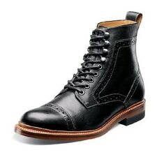 Stacy Adams Madison II Black Men ankle boot Cap Toe leather High Top Boot 00062