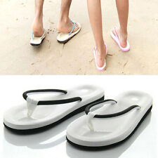 Fashion Women Men's Slip On Flats Slippers T-Strap Flip Flops Sandals Shoes
