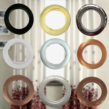 10 x 42mm Plastic Curtain Eyelets and Rings Clips Grommets - White or Black - UK