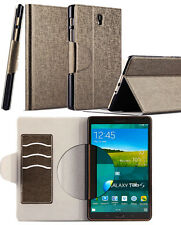 HX Oracle lines Stand Leather Case Cover For Samsung galaxy Tab S 8.4 SM-T700
