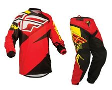 Fly Racing Mx 2015 F-16 Red/Black MTB BMX Motocross Dirt Bike Adult Gear Set