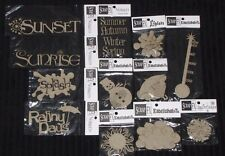Chipboard 'WEATHER & SEASONS' Embellishments (You choose design) SCRAP FX