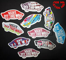 "VANS ""Off The Wall"" Skateboard Guitar Laptop Sticker Obey Supreme Sticker Bomb"