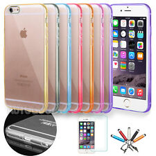 "Apple iPhone 6 Case 4.7"" Slim Transparent Crystal Clear Hard TPU Back Cover  #49"