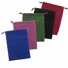 "Velveteen Tarot Bag 5"" x 7"" - Choice of 5 Colors - Drawstring Pouch for Cards"