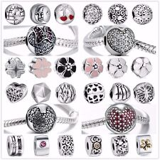 Silver European Charm Clip Bead For Necklace Bracelet Chain Free Ship CA