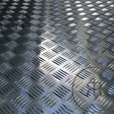 Aluminium Checker Plate, Treadplate, 5 bar Sheet Plate Guillotine Cut Aluminium
