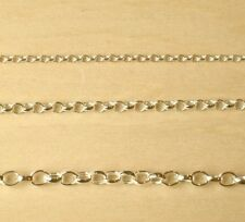 "9ct Gold Plated 925 Sterling Silver Belcher Chain Bracelet Necklace 6"" to 22"""