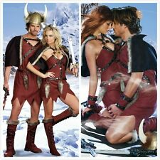 Fashion Brave Adult Viking Warrior Costume Fancy Dress Ruby Men/Women Halloween