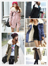Korea Women Warm Long Sleeve Zip Fleece Winter Coat Jacket Outwear Parka Tops