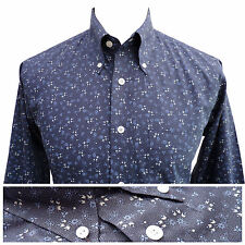 Mens FLORAL / FLOWER PRINT Button Down Shirt Shirt by Relco NEW All Sizes Mod
